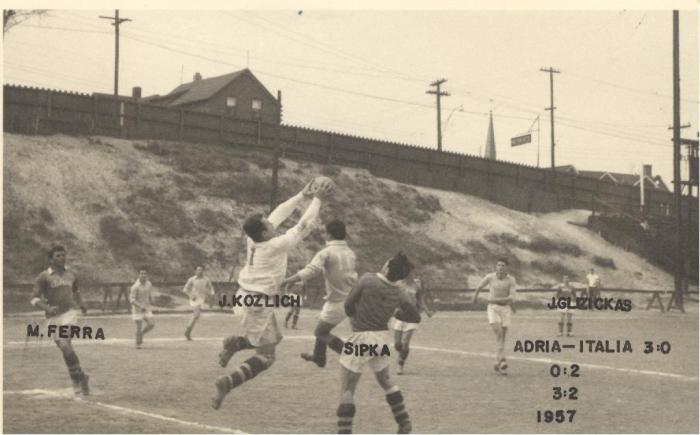 1957 Queens Flyers vs Croatia (2)
